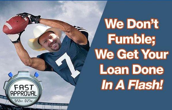 No Loan Fumbles With Hard Money!