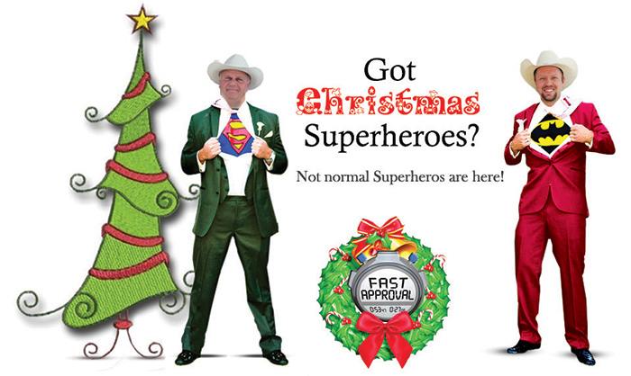 Holiday Loan Superheroes Just For You