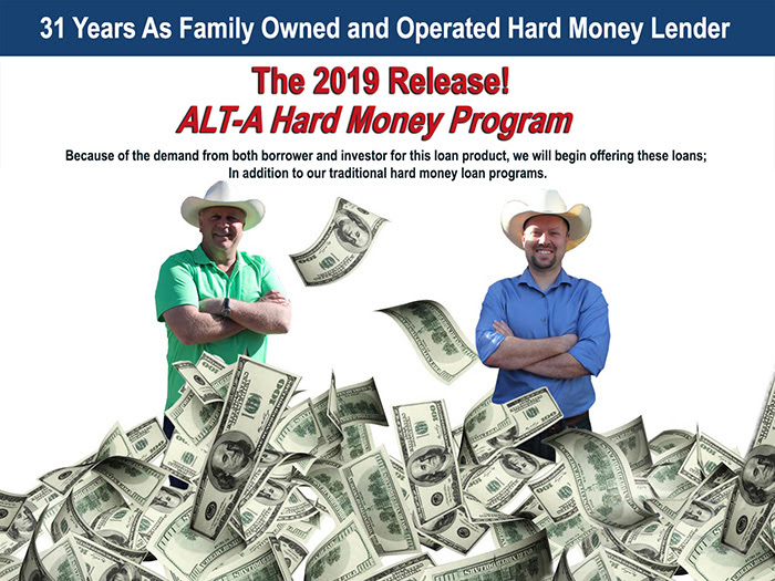 Alt A Hard Money Program